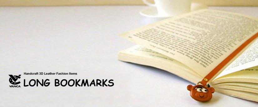 handcrafted leather desk item long bookmarks