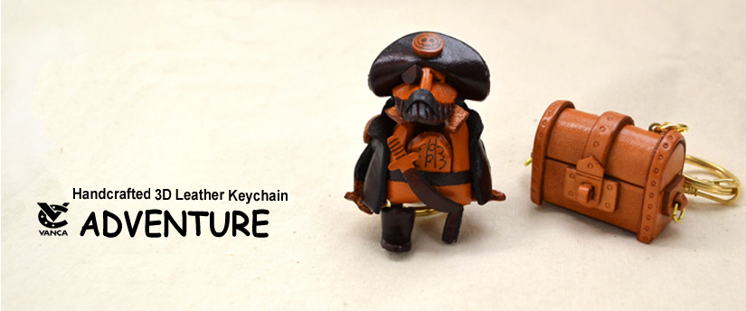 handcrafted leather keychain adventure