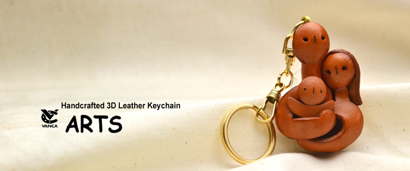 handcrafted leather keychain arts