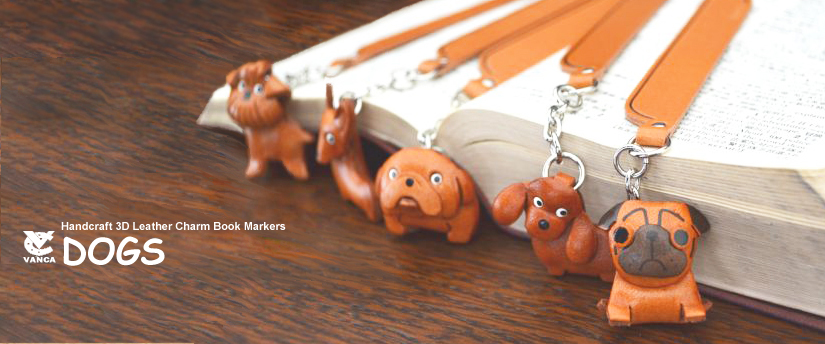handcrafted leather desk item charm bookmarks