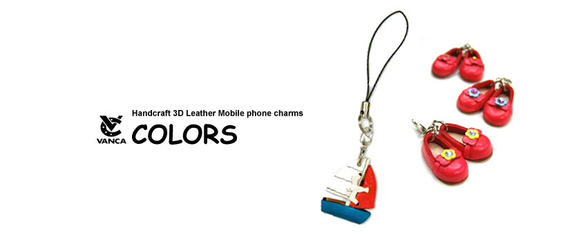 handcrafted leather color phone charm