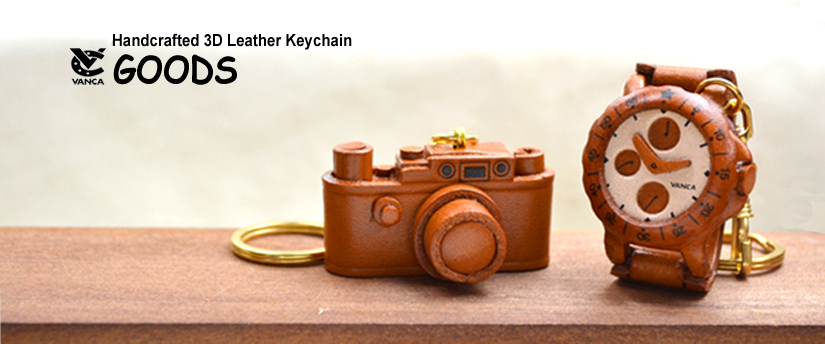 handcrafted leather keychain goods