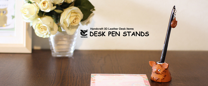 handcrafted leather desk item desk pen stands