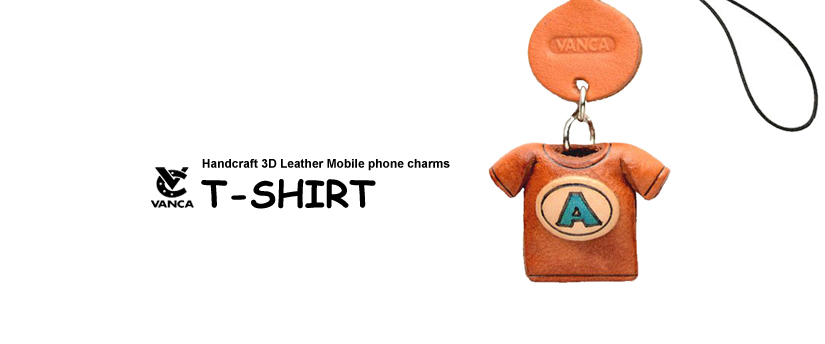 handcrafted leather tshirt phone charm