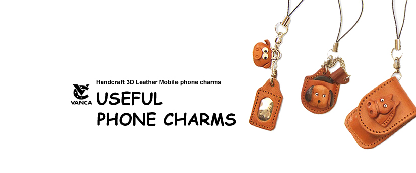 handcrafted leather useful phone charm