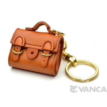 Buckles Bag Leather Keychain(L)