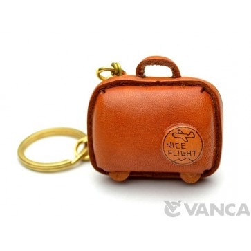 Suitcase Leather Keychain(L)