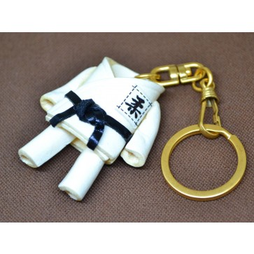 Judo Gi Uniform Leather Keychain(L)