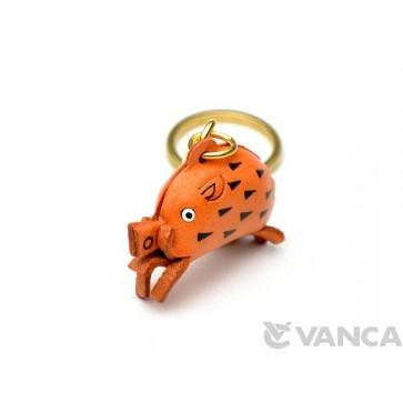 Wild Boar Leather Keychain (Chinese Zodiac)