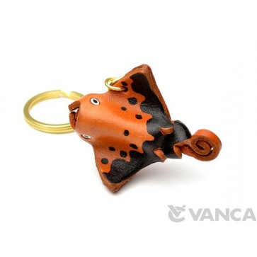 Manta Ray Leather Keychain(L)
