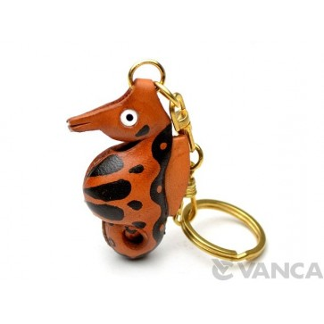 Sea Horse Leather Keychain(L)
