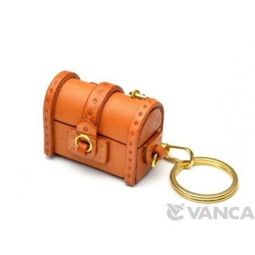 Treasure Chest Leather Keychain(L)