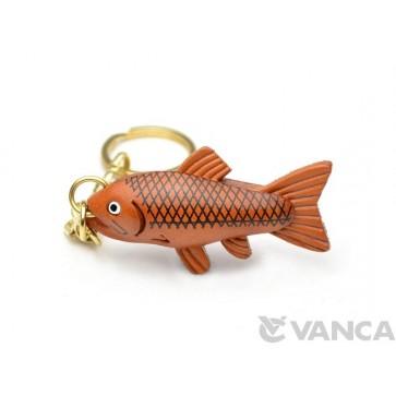 Salmon Leather Keychain(L)