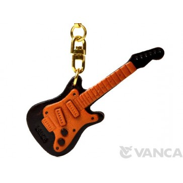 Electric Guitar Leather Keychain(L)