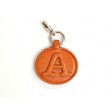 A Leather Alphabet Plate