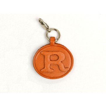 R Leather Alphabet Plate