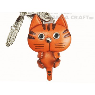 Cat Handmade Leather Cat/Bag Charm