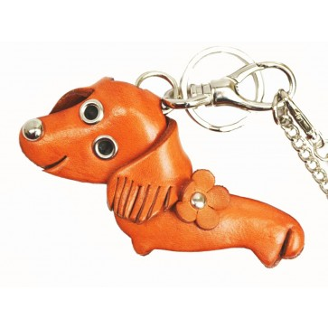 Dachshund Handmade Leather Dog/Animal Bag Charm
