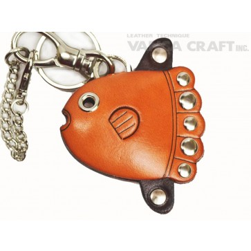 Sun Fish Handmade Leather Fish/Bag Charm