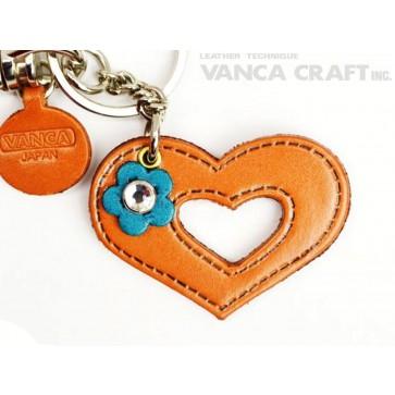"Symbols  ""Heart"" Leather Keychain Bag Charm"