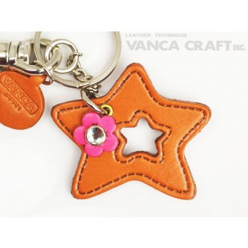 "Symbols  ""Star"" Leather Keychain Bag Charm"