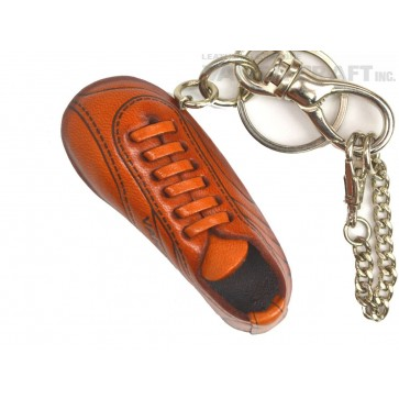 Soccer Shoe Handmade Leather Sports Keychain Bag Charm
