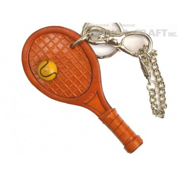 Tennis Racket Handmade Leather Sports/Bag Charm