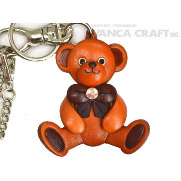 Teddy Bear Handmade Leather Goods/Bag Charm