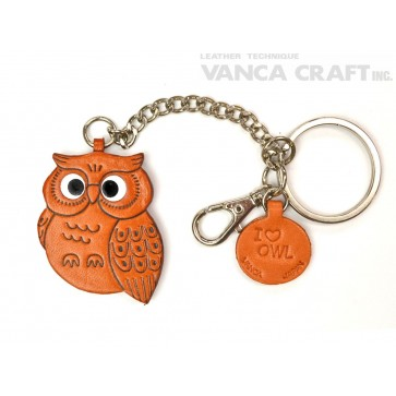 Owl Leather Ring Charm #26051