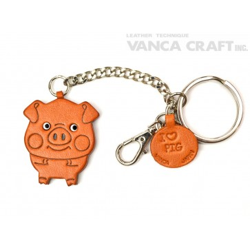 Pig Leather Ring Charm #26053