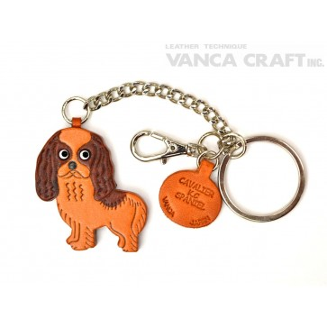 Cavalier K.C Spaniel Leather Ring Charm #26058