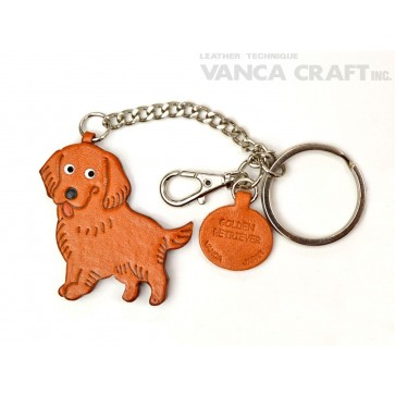 Golden Retriever Leather Ring Charm #26062