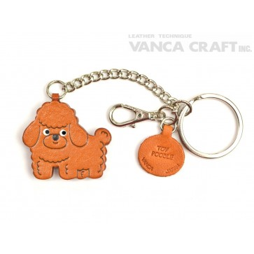 Toy Poodle Leather Ring Charm #26074
