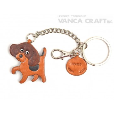 Beagle Leather Ring Charm #26056