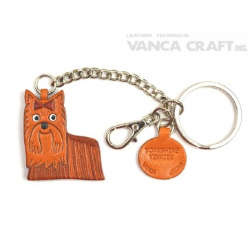Yorkshire Terrier Leather Ring Charm #26076