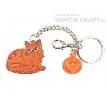 Maine Coon Leather Ring Charm #26078