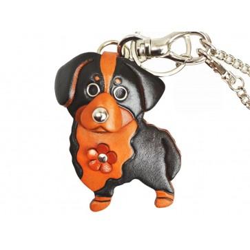 Bernese Mountain Dog Leather Dog/Bag Charm