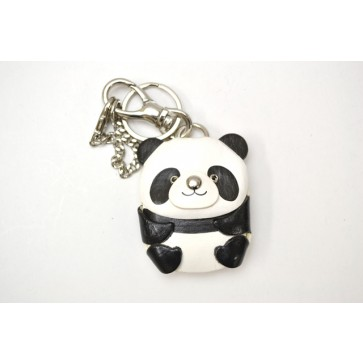 Panda Handmade Leather Animal/Bag Charm