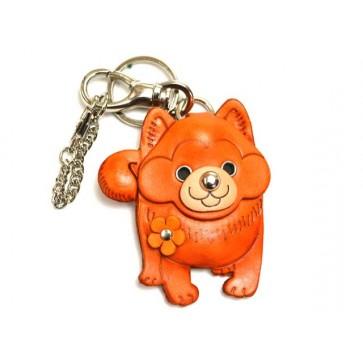 Akita Dog Leather Dog/Bag Charm