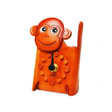 Monkey Japanese Leather Desk Clocks #26515