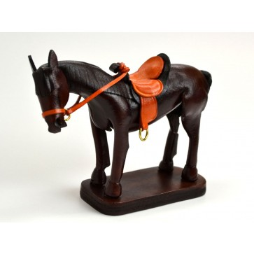 Leather Ornament Horse:Black