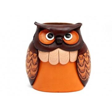 Owl Handmade Genuine Leather Eyeglasses Holder/Stand #26209
