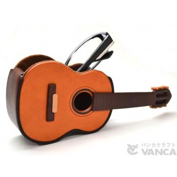 Guitar Handmade Leather Eyeglasses Holder/Stand #26218