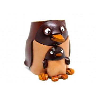 Penguin Handmade Leather Eyeglasses Holder/Stand #26217