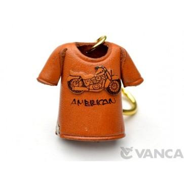 American Chopper Bike T-shirt Leather Keychain