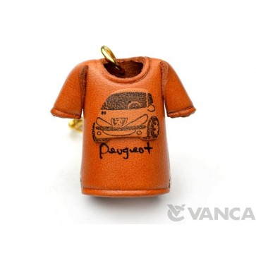 Peugeot T-shirt Leather Keychain
