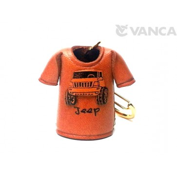 Jeep T-shirt Leather Keychain