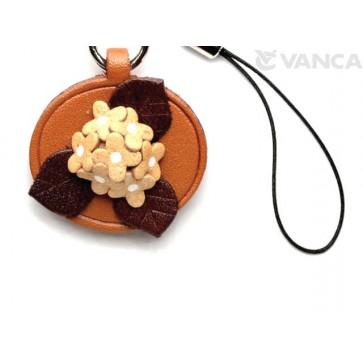 Hydrangea Leather Flower Cellularphone Charm