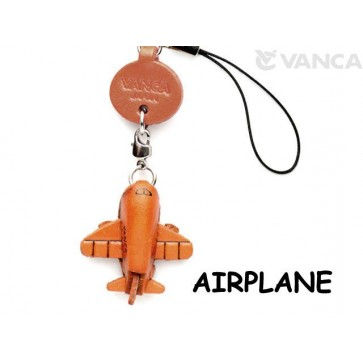 Airplane Japanese Leather Cellularphone Charm Goods