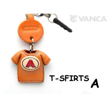 A/Red Leather T-shirt Earphone Jack Accessory